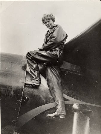 Amelia Earhart in 1935.
