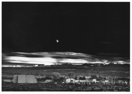 Moonrise, Hernandez, New Mexico.