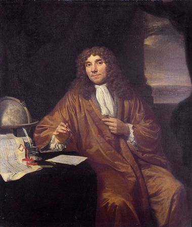 A portrait of Antonie van Leeuwenhoek by Jan Verkolje from between 1670 and 1693. It is located in the Museum Boerhaave in Leiden.