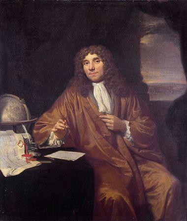 A portrait of Antonie van Leeuwenhoek by Jan Verkolje from between 1670 and 1693. It is located in the Museum Boerhaave in Leiden.