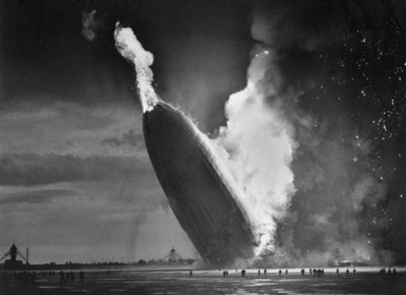 The Hindenburg Crashes is a photograph by Murray Becker.