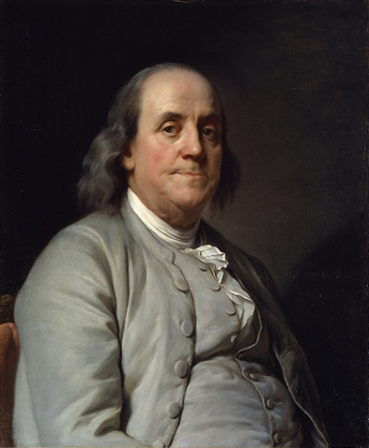 A portrait of Benjamin Franklin by Joseph-Siffrein Duplessis from about 1785. It is now in the National Portrait Gallery in Washington, D.C.