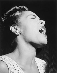A 1947 portrait of Billie Holiday.