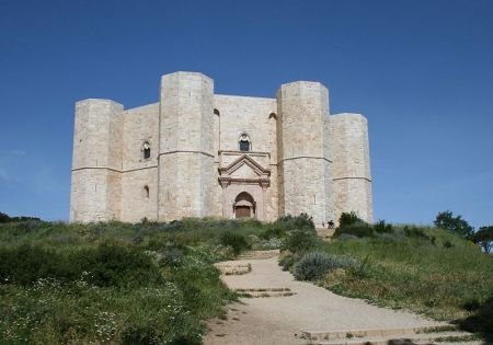 The Castel del Monte is famous for its unusual octagonal design.