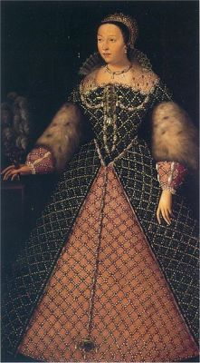 A portrait of Catherine de' Medici from between 1547 and 1559. It is located in the Uffizi Gallery, Florence.