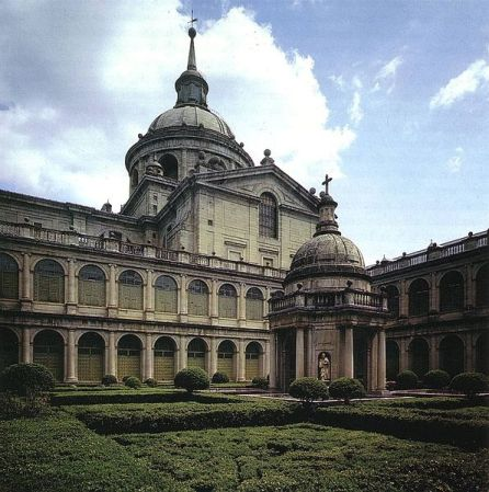 The Courtyard of the Evangelists, part of the El Escorial monastery.