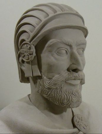 A bust of Cyrus the Great.