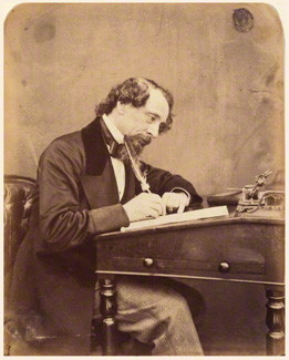 A photograph of Charles Dickens by Herbert Watkins, dated 1858. It is now in the National Portrait Gallery, London.