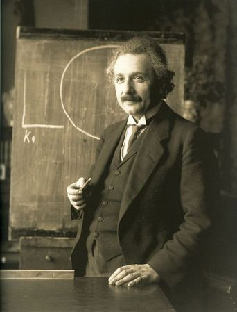 Albert Einstein in Vienna in 1921. Photo by F. Schmutzer.