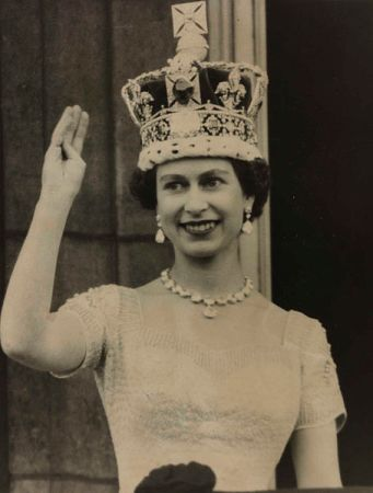 Elizabeth II after her coronation in 1953.
