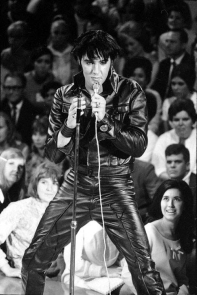 "Elvis Presley at his 1968 ""Comeback"" concert."
