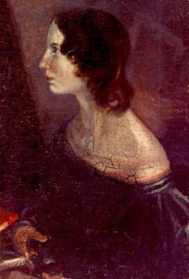 An undated portrait of Emily Brontë by her brother Branwell Brontë.