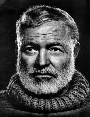 Ernest Hemingway in 1958.