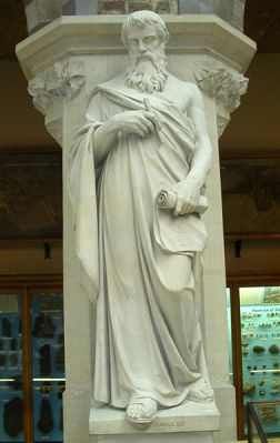 Statue of Euclid at Oxford University Museum of Natural History, UK. Created by Joseph Durham between 1835 and 1877.