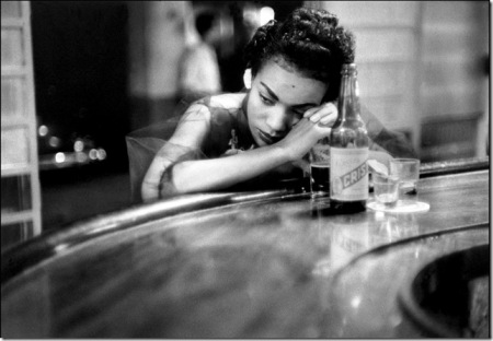 Eve Arnold_Havana. Bar girl in a brothel 1954