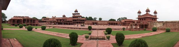 A view of the planned city of Fatehpur Sikri.