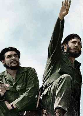 Fidel Castro (right) and Che Guevara in 1961.