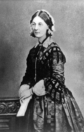 A photograph of Florence Nightingale taken about 1860. This is a 1920 print from the original negative.