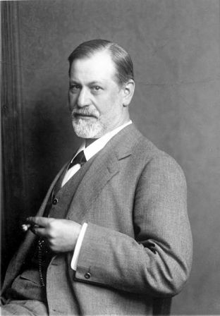 A photograph of Sigmund Freud from about 1900.