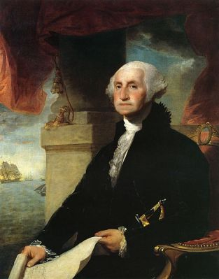 Gilbert Stuart's 1797 portrait of George Washington, which can be seen in the Crystal Bridges Museum of American Art in Bentonville, Arkansas.
