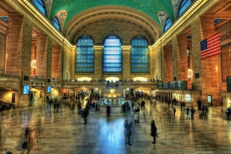 Interior view of Grand Central in New York City.