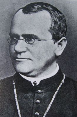 Undated photograph of Gregor Mendel.