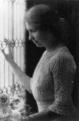 Helen Keller in 1912.
