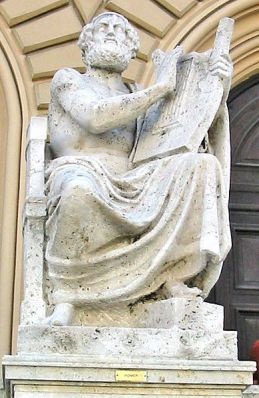 Statue of Homer outside Bavarian Museum in Munich.