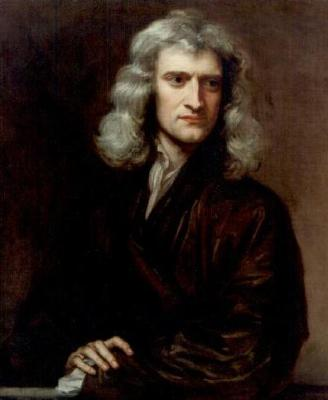 This portrait of Sir Isaac Newton was painted by Sir Godfrey Kneller in 1689, when Newton was 46. It is on display at Farleigh House, Somerset, UK.