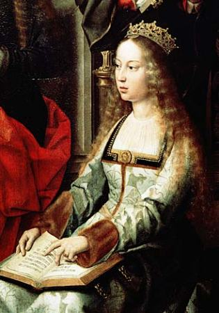A 1520 portrait of Isabella of Spain.