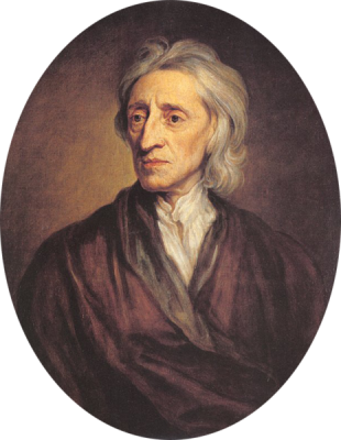 A 1697 portrait of John Locke by Sir Godfrey Kneller. It is located in the State Hermitage Museum, St. Petersburg.