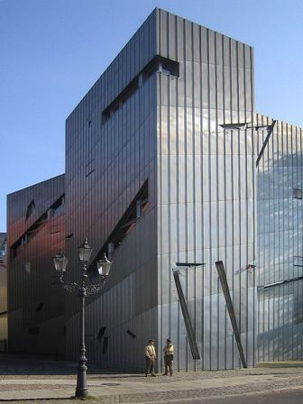 A closer view of Libeskind's design.