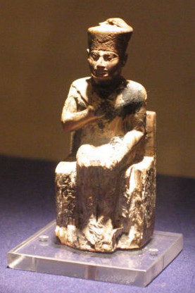 Ivory figurine of Khufu, possibly contemporary. Now in Cairo Museum.