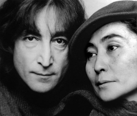 John Lennon and Yoko Ono in 1980. Photo by Jack Mitchell.