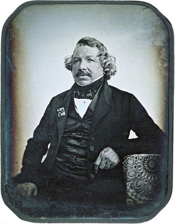 Daguerrotype of Louis Daguerre in 1844, taken by Jean-Baptiste Sabatier-Blot. On display at the George Eastman House, Rochester, New York.