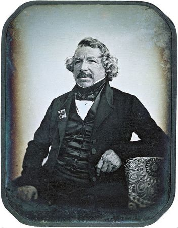 An 1844 daguerrotype of Louis Daguerre by Jean-Baptiste Sabatier-Blot.