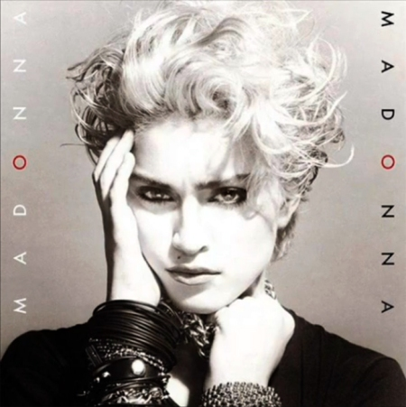 The cover of Madonna's self-titled debut album, released in 1983.