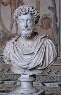 Bust of Marcus Aurelius from the Glyptothek in Munich, probably from the 2nd Century CE.