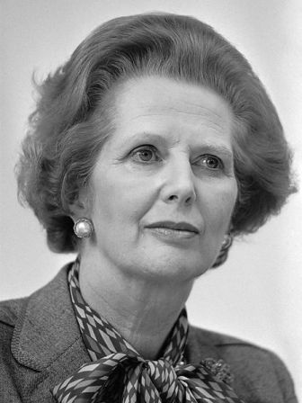 Margaret Thatcher in 1983.