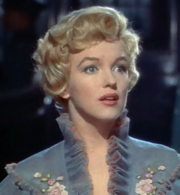 Marilyn Monroe in The Prince and the Showgirl (1957).