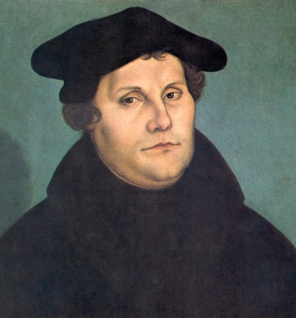 A portrait of Martin Luther by Lucas Cranach the Elder from around 1530. It is located in the Uffizi Gallery, Florence.