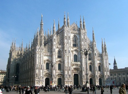 The Milan Cathedral took six centuries to complete.