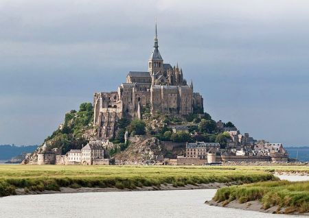 Mont St. Michel is a site of an ancient monastery.