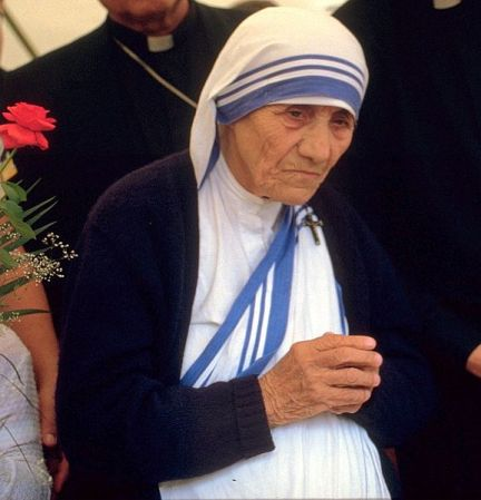 Mother Teresa in 1986.