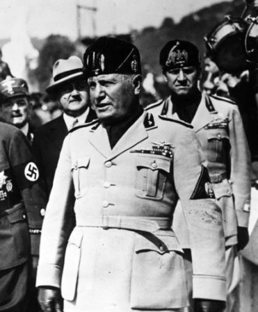 Benito Mussolini in Germany in 1938.