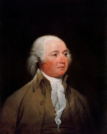 Official Presidential portrait of John Adams by John Trumbull, from 1792 or 1793. Now located in the White House, Washington, D.C.