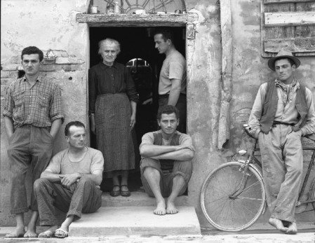 The Family, Luzzara, Italy, a photograph by Paul Strand.