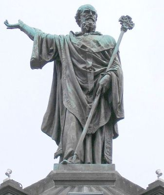 Statue of Pope Urban II in Clermont-Ferrand, France by Henri Gourgouillon, in 1898.