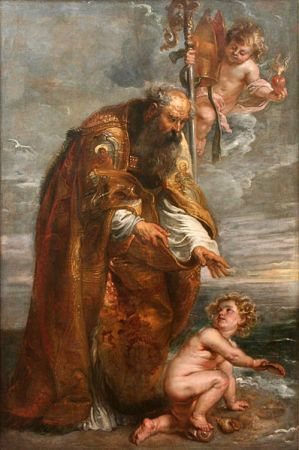 Portrait of St. Augustine by Peter Paul Rubens, from 1636-1638. It is now in the National Gallery of Prague.