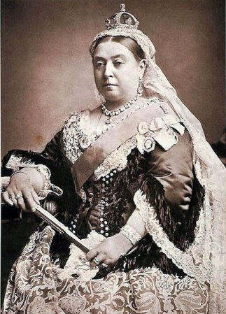 A photograph of Queen Victoria from 1887, by Alexander Bassano.